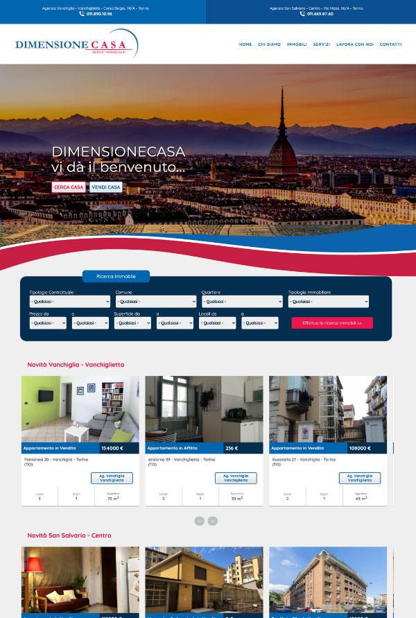 Dimensione Casa Website > Web Design