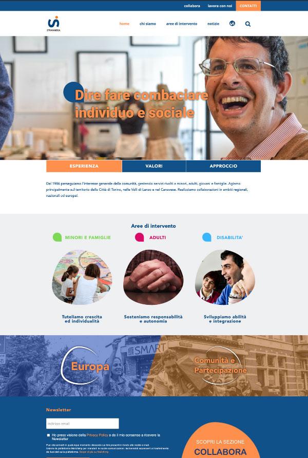Stranaidea website > Web Design