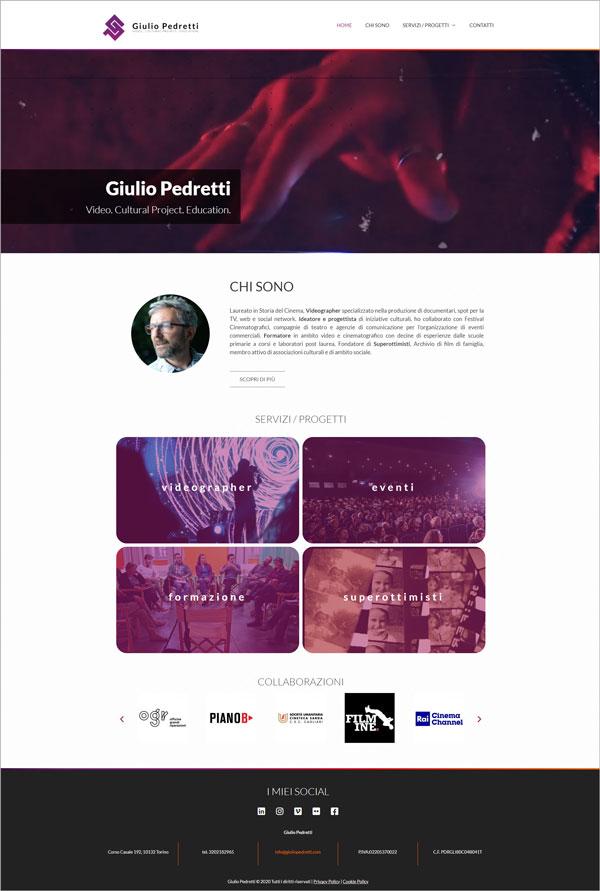 Giulio Pedretti website > Web Design